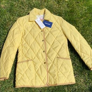 NWT Dooney & Bourke Yellow Quilted Jacket